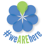 #weAREhere logo